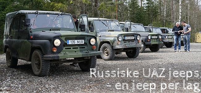 Russiske UAZ jeeps i Tallinn